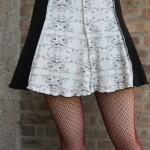 Separation Anxiety - Skirt (xs) Organic Cotton + Re-Purposed Fabric/Custom Artist Series by paranoidgirl, The Artwork of Kelly D. Pelka)
